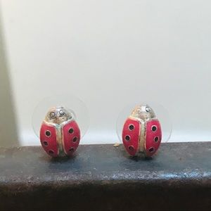 Delicate Ladybug Earrings